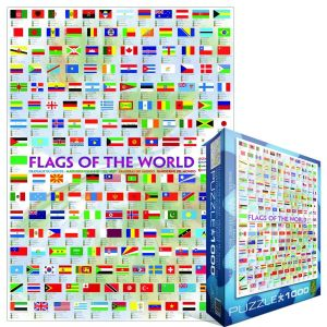 Flags Of The World 1000 piece jigsaw puzzle   (pz)
